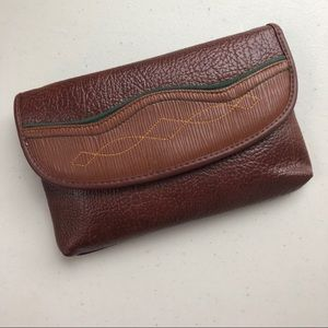 Fold Over Western Embroidered Faux Leather Wallet